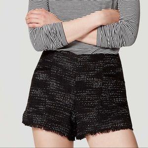 NWT🏷Ann Taylor LOFT midnight Tweed shorts 14